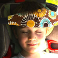 2 pc/lot 100% cartón suministros niño almohada de viaje cochecito de bebé cinturón de seguridad Del Coche correa ajustable cabeza safet cinturón 17 colores