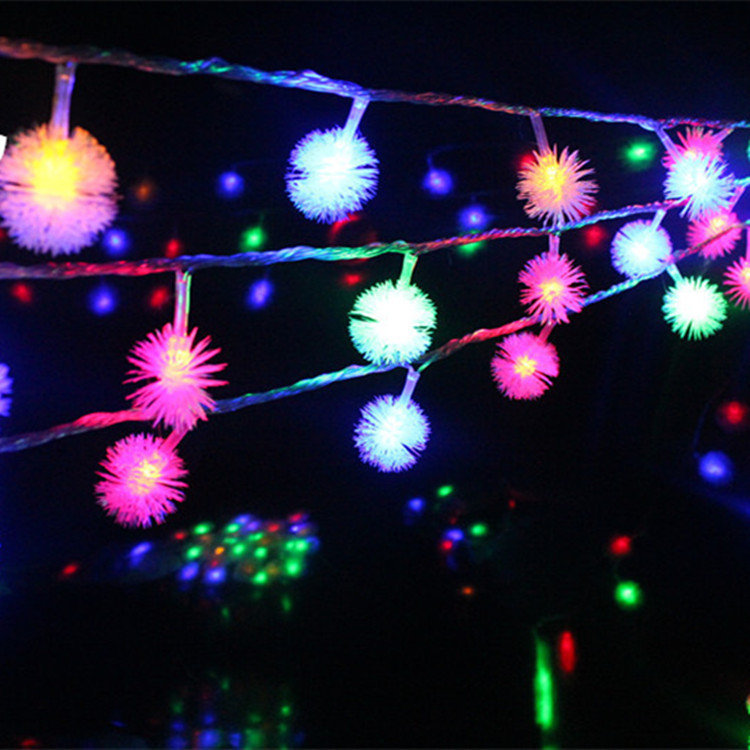 Luminaria 10M 50LED Ampoule Furry Ball String Lights Edelweiss Flocon - Éclairage festif - Photo 5