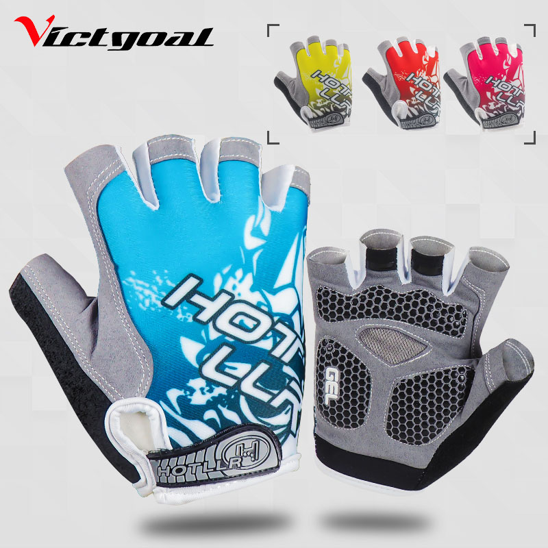 VICTGOAL Cycling Gloves Men Women Gel Padded Cycling Gloves Anti-Skid Shockproof Gym Fitness Gloves Half Finger MTB Sports Glove