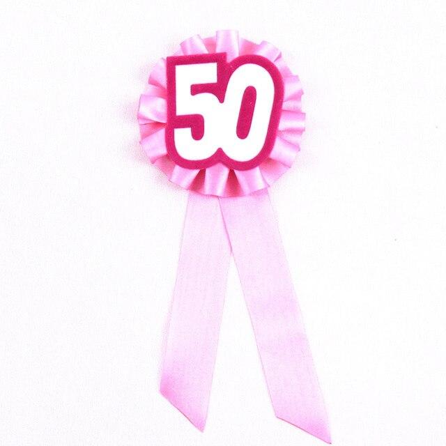 4 Stks Zoete 50 Jaar Ceremony Broche Meisjes Verjaardag Badge Vrouw