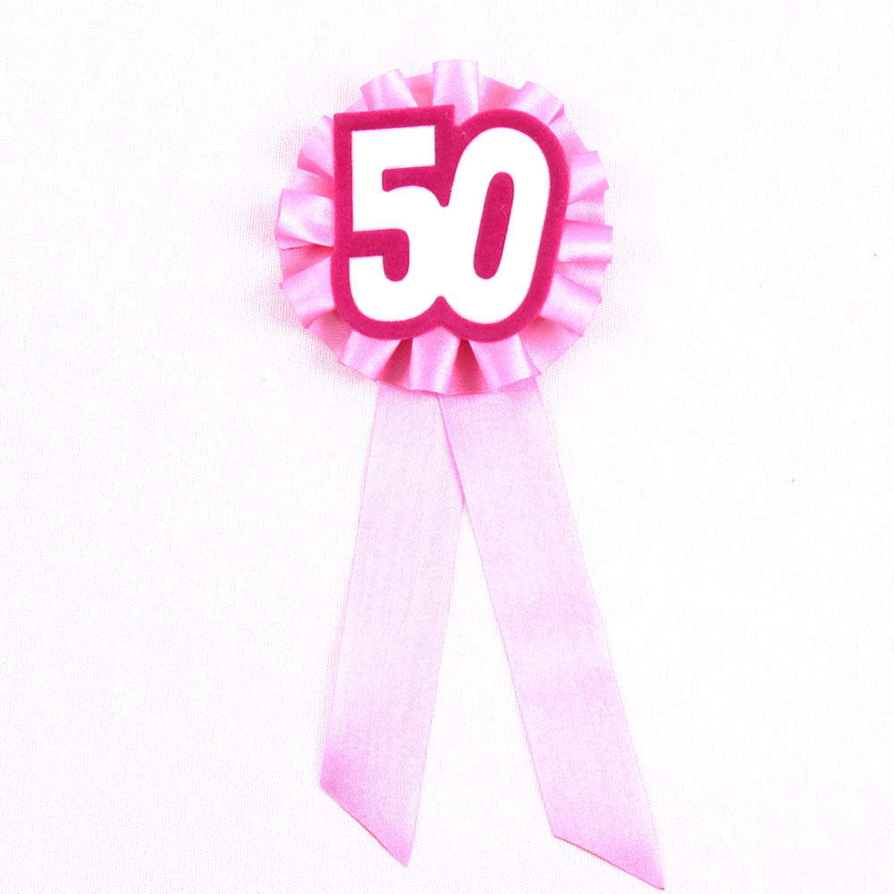 Big happy birthday badges party products party delights - 4pcs Sweet 50 Years Ceremony Brooch Girls Birthday Badge Woman Happy Birthday Button Event Party Supplies