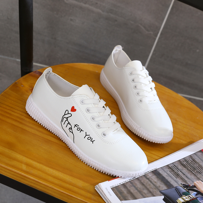 Women Casual Shoes 2018 Fashion PU Leather Shoes For Women Flat Ladies Lace Up Soft White Shoes Zapatos Mujer 1h46 hot sale genuine leather shoes women soft comfortable lace up zapatos mujer high quality fashion oxfords pigskin women s shoes