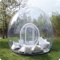 1PC Inflatable Bubble Tent Outdoor Camping Tent, Clear Inflatable Lawn Dome Tent,Inflatable Lawn Dome Hiking Tents