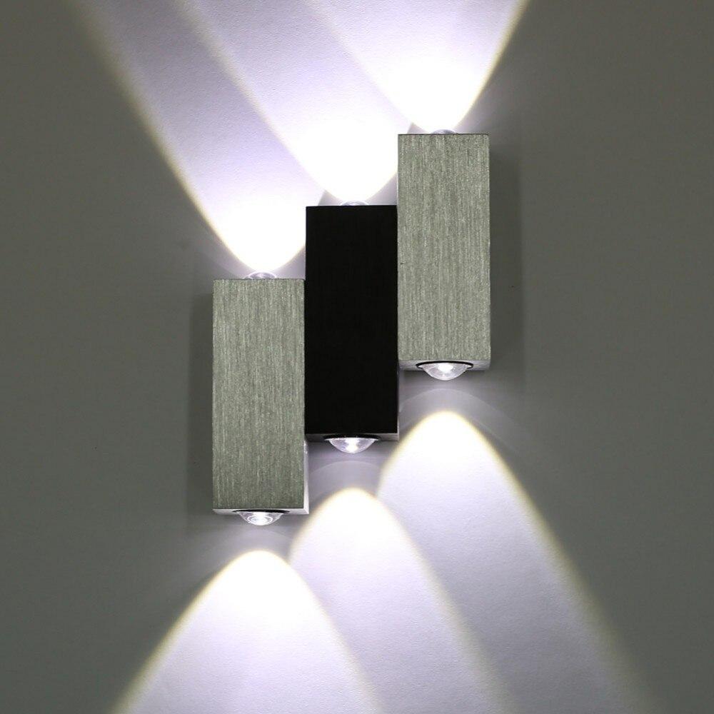 moderne 6 watt high power up down wandleuchte leuchte wandleuchten innen wandleuchte heim flur. Black Bedroom Furniture Sets. Home Design Ideas