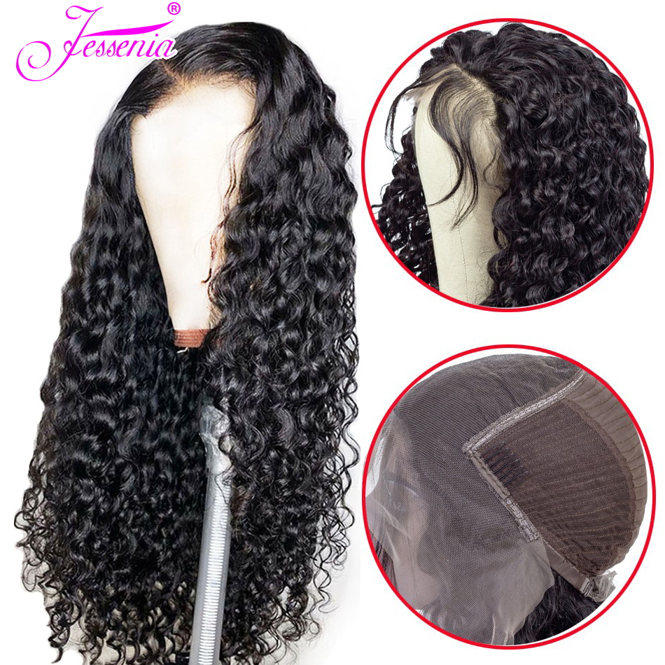 Water Wave Lace Front Human Hair Wigs 150 Brazilian 13*4 Front Lace Wigs With Baby Hair Pre Plucked Natural Hairline
