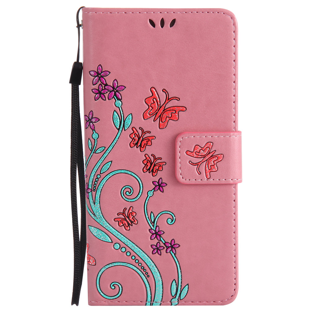 Butterfly Case for Huawei P9 Lite VNS L21 Floral Leather Flip Cover Wallet Phone Case for Huawei P 9 lite VNS-L21 VNS-L31 Capa