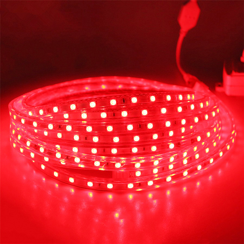 Hot LED Strip 5050 IP66 Waterdichte Flexibele licht Tape 220V lamp Outdoor String LED Touw 110V 100M met Gratis Power Adapter - 5