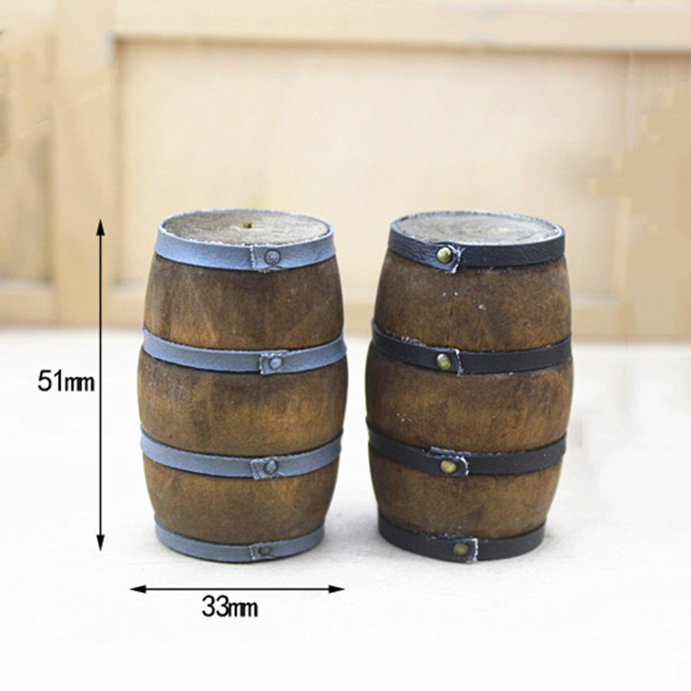 E 1:12 Doll house mini furniture accessory wine barrel model with wine  yx