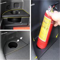 Lapetus Accessories Interior Plastic Fire Extinguisher Cup Holder Case Cover Trim 1 Piece Fit For Hyundai Tucson 2016 2017 2018