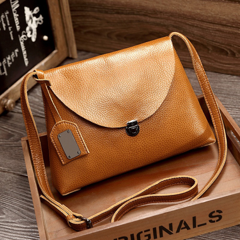 Fashion Split Leather Women Shoulder Bags Vintage Soft Full Grain Leather Messenger Bag Girls Flap Bag Summer Satchel Handbag fashion matte retro women bags cow split leather bags women shoulder bag chain messenger bags