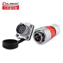 Cnlinko CE/ROHS M20 תעשיית 500V 12A כוח מחבר 5pin עמיד למים מחבר LED החוצה דלת זכר תקע מחבר עם אבק כיסוי Drop shipping/Wholesale