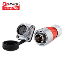 Cnlinko CE/ROHS M20 Industry 500V 12A Power Connector 5pin Waterproof Connector LED Out Door Male Plug Connector with Dust Cover