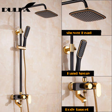 Bathroom Shower System Set Big Rain Waterfall Shower Faucet Mixer Cold&Hot Water Saving Mixing Valve Shower Head Hand Sprayer цена и фото