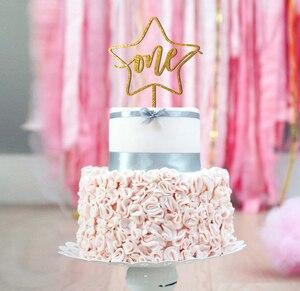 Одна звезда торт Топпер, первый день рождения Топпер, девочка мальчик уникальные юбилейные топперы, добро пожаловать ребенка Топпер