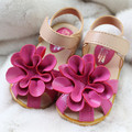 New 2016 Summer Girls Sandals Baby Shoes PU Leather Fashion Flower Soft Sole Baby Sandals Girls Shoes Kids Princess Shoes