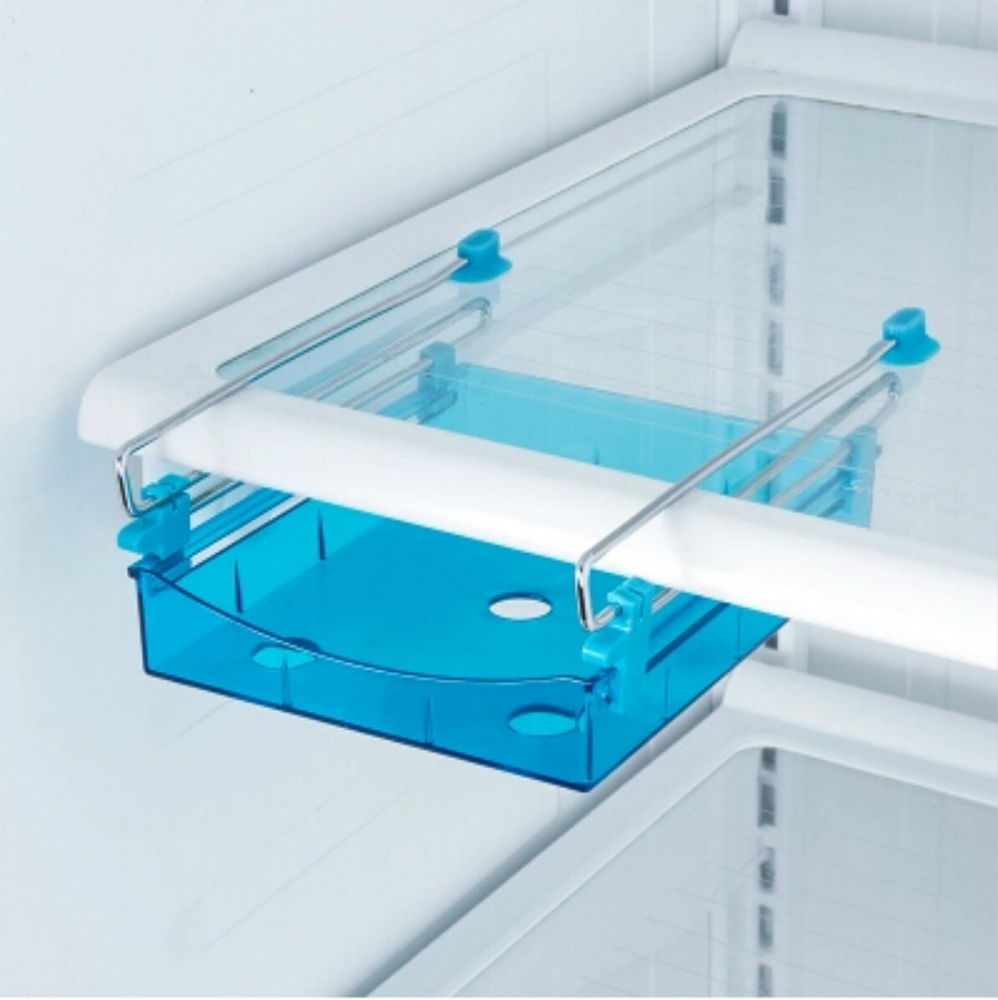 Refrigerator Shelf Plastic Table Storage Holder Telescopic Box Rack ...