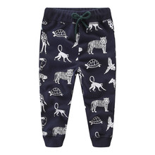 Boys Clothes Baby Kids Trousers Winter Cotton Cartoon Tiger Print Cute Pants for Children Warm Clothing Sweatpants