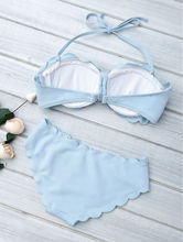 Women Bikini Push up Scallop Cute Swimwear
