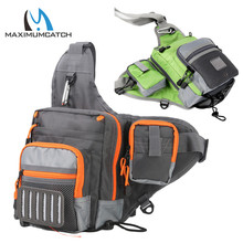 Maximumcatch V Cross Fly Fishing Sling Bag Waterproof Multi Perform Fishing Waist Bag Software Pack