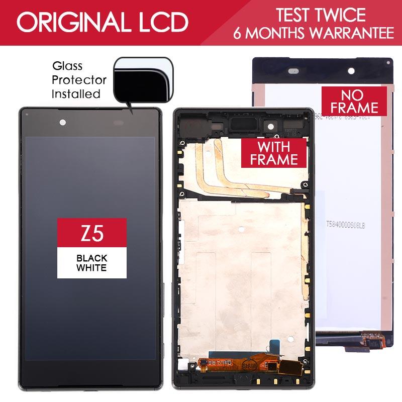 Original Brand Black White 5 2 inch Display For SONY Xperia Z5 LCD E6603 E6683 LCD
