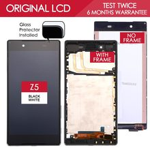 Original Brand Black White 5.2 inch Display For SONY Xperia Z5 LCD E6603 E6683 LCD Display Touch Screen with Frame Digitizer