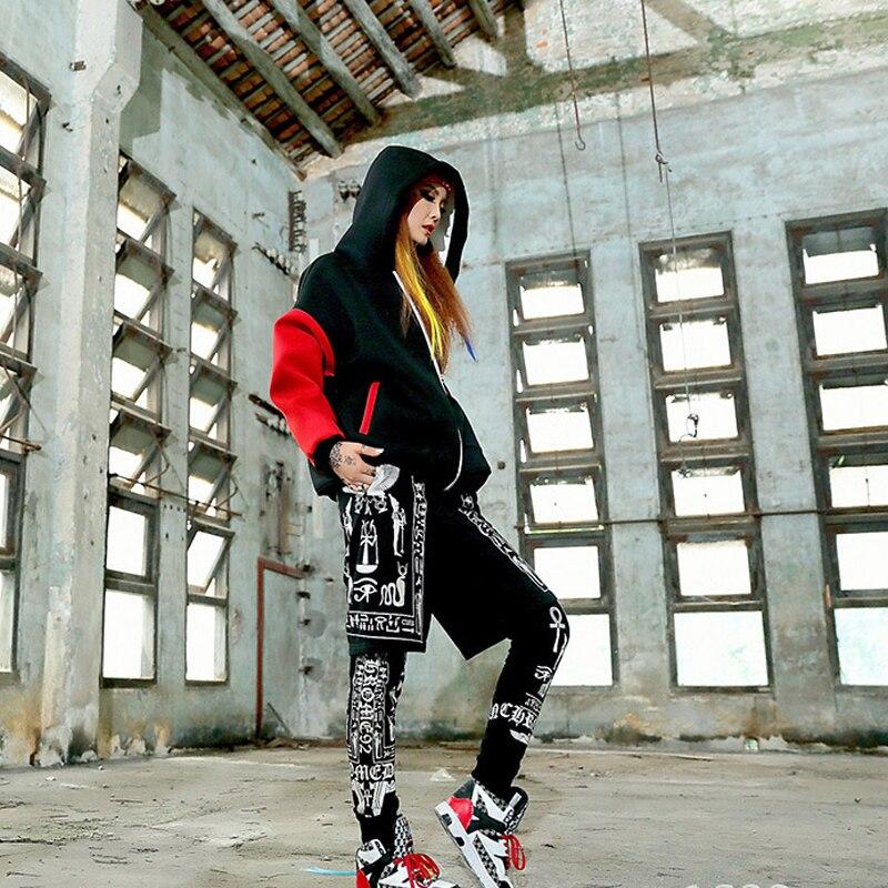 Effizient Herbst Hip-hop Cool Gefälschte Zweiteilige Hosen Freizeit Sportkleidung Frauen Hosen Weibliche Hosen Straße Tänzer Skateboard Lieblings Hosen