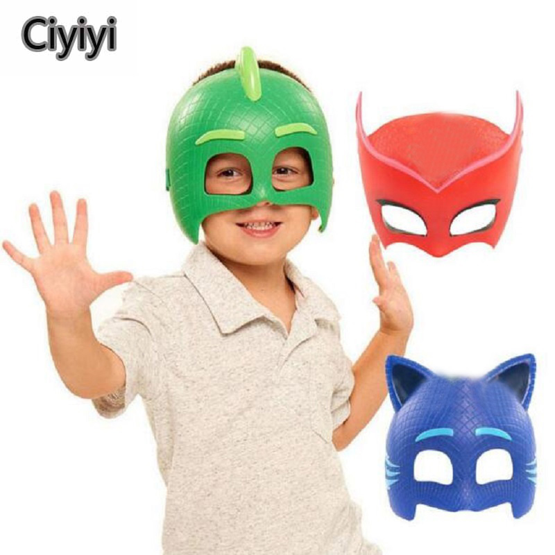 Pj Les Pyjamasques Connor Greg Amaya Children Cosplay Party Show Mask Toys Cartoon Mask Jouet Kids Birthday Gift Kids Gift pj cartoon pj masks command center car parking toy lot car characters catboy owlette gekko masked figure toys kids party gift