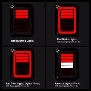 Image 3 - Eua/ue edição reverser freio sinal de volta led luzes traseiras lâmpada conjuntos traseiros para jeep wrangler jk 2 & 4 porta 2007 2017 ponto