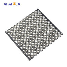 Mini papan 10-100x heatsink 5 v secara addressable ws2812b ws2811 ws2812 pixel led dengan heasink built-in 5050 rgb led(China)