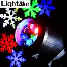 2016 Новый Горячий Высокое Качество 110-240 В 4 Вт ЕС США Plug Энергосберегающие Водонепроницаемый LED Снежинка Свет Пейзаж Проектор лампы