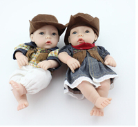 New 28cm 2pcs/lot silicone reborn baby dolls toy for sale, the best birthday gift for child baby kid, girl brinquedos