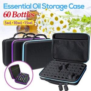 Image 1 - 60 przegródek woreczek do przechowywania olejków eterycznych przenośne niezbędne do podróży organizer na buteleczki olejek zapachowy narzędzie do zbierania walizek