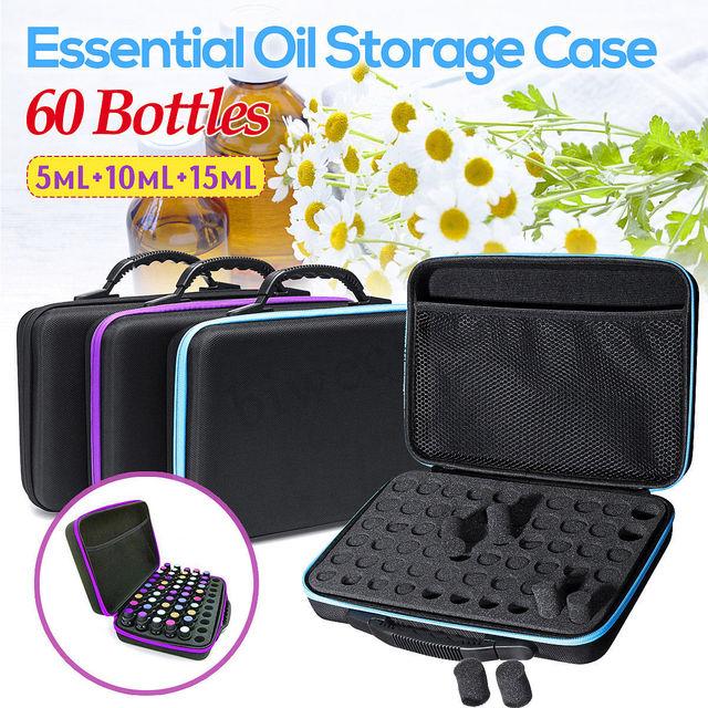 60 przegródek woreczek do przechowywania olejków eterycznych przenośne niezbędne do podróży organizer na buteleczki olejek zapachowy narzędzie do zbierania walizek