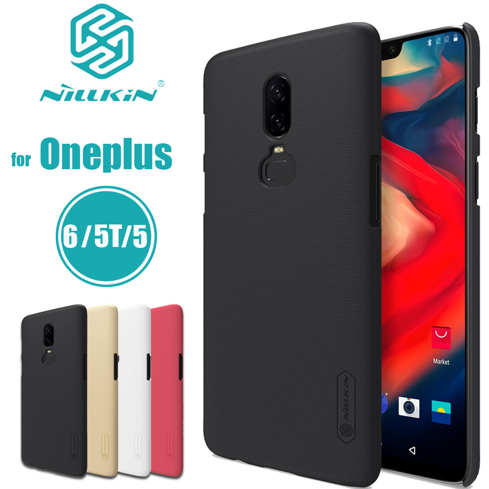 for Oneplus 7 Pro 6T 6 5T 5 Case Nillkin Frosted Matte Hard PC Plastic Phone Bag Back Full Cover for One Plus 7 PRO 6T 6 5T 5