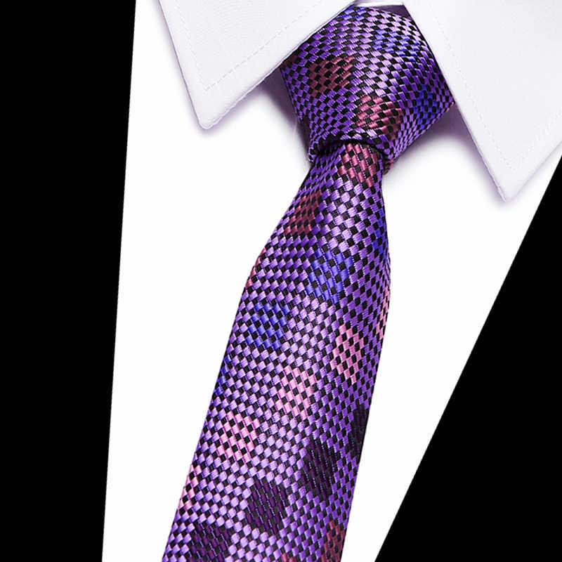 7.5 เซนติเมตร Men's Ties ใหม่ Man แฟชั่นเนคไท Corbatas Gravata Jacquard ผ้าไหม Tie ธุรกิจสีเขียวสีม่วง Navy สีเทา Tie สำหรับ Me