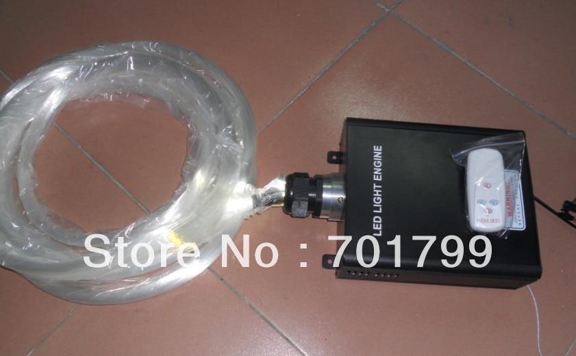 1000pcs 0.75mm PMMA optical fiber in 4m length+45W TWINKLE WHITE RF optical fiber engine,firber kit