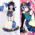 Japonés Anime Love Live Sonoda Umi Trajes de Cosplay Del Partido de Halloween Lolita Chicas Dulces de Lujo Del Vestido de Mucama Cosplay Uniforme