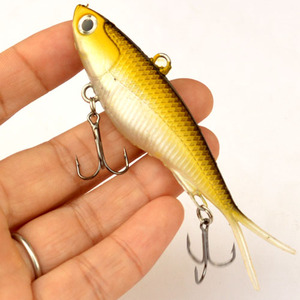 Image 5 - WLDSLURE Señuelos de Pesca, 95mm, 20g, señuelos de vibración suave, cebo con cabeza plomada de plástico suave