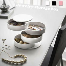 Multi-layer 360° Jewelry Box Ring Necklace Display Storage Organizer Travel Cas