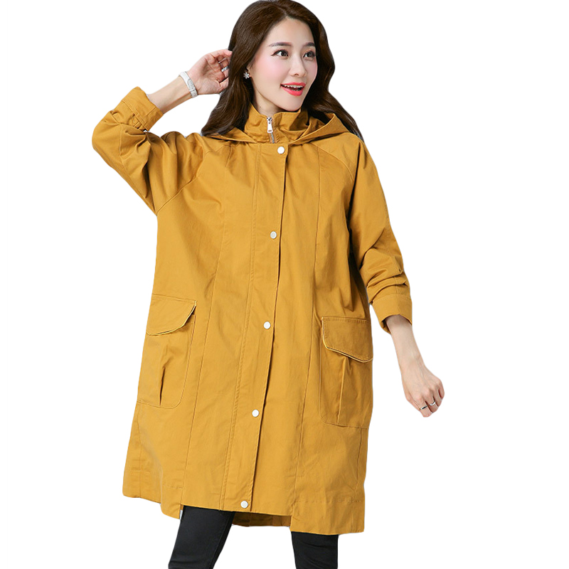 High Quality 2018 Spring Autumn Women Fashion Long Trench Coats Female Loose Long Sleeve Oversized Trench Coat Outwear CM2158