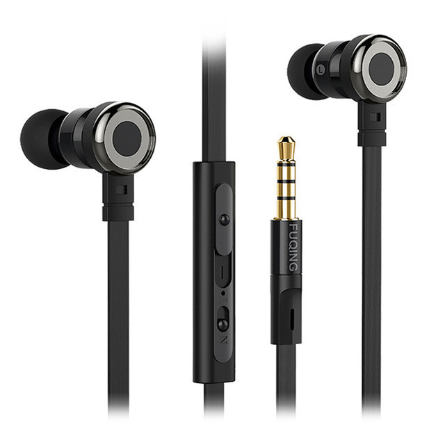 Professional Heavy Bass Sound Quality Music Earphone For Meizu M2 mini Earbuds Headsets With Mic Earphones