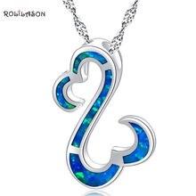 Лучший подарок для друга rolilason голубой огненный опал серебряный