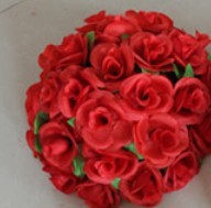 55 см вьющаяся Роза из искусственного шелка(Висячие цветочные шарики для Свадебные украшения - Цвет: Красный