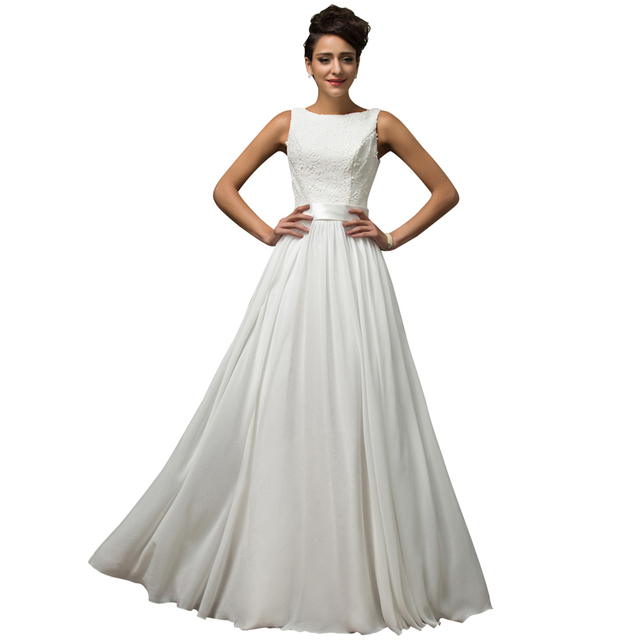 Aliexpress.com : Buy Floor length gown white Long evening dress ...