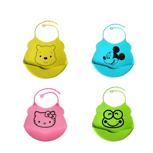 Newborn Baby Bibs Aprons Silicone Waterproof Feeding Bib Kids Saliva Towel Durable and Easy to Wash