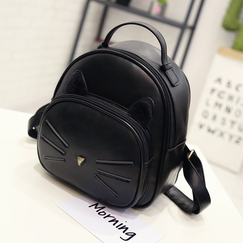 Kawaii Cat Ear Backpack Black Preppy Style School Backpacks For Teenage Girls College Style Casual Backpack Sac Mochilas on Sale (23)
