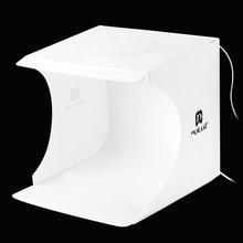 Portable 2 LED Panels Folding lightbox Photography Photo Studio Softbox Lighting Kit Light box for iPhone Digital DSLR Camera