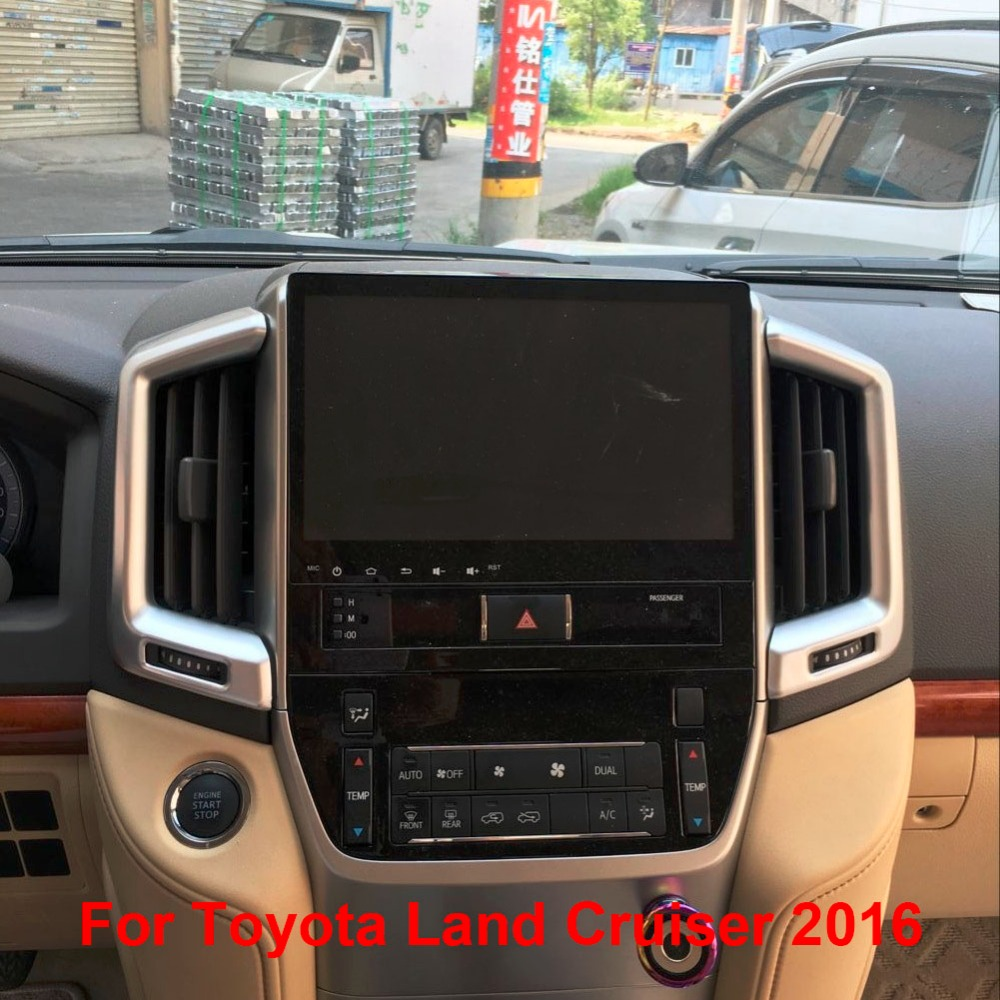 Car Front Air Conditioner Oulet Styling Penals For Toyota Land Cruiser V8 Lc200 2016 Accessories