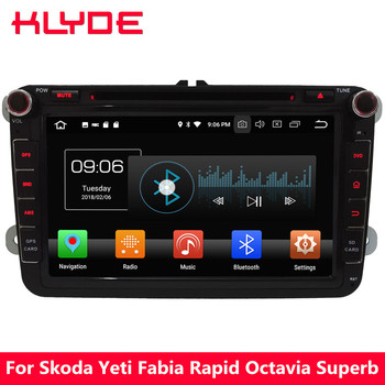 KLYDE 4G Octa Core Android 8.0 4GB RAM+32GB Car DVD Player Radio For Volkswagen T5 CC Eos Golf Jetta Polo Beetle Caddy Magotan