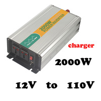 2000 W 12 v à 110 v chargeur hors réseau 2000 watts hommage ups 2kva onduleur 12vdc à 110vac powerstar onduleur mini-onduleur avec char